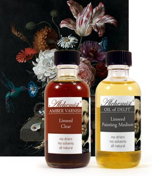 Amber Varnish Linseed walnut painting mediums